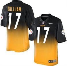 182d476b488 Nike #Steelers #17 Joe Gilliam White Black Men's Stitched NFL Elite Split  Jersey #nfl #football #nationalfootballleague #pats #patsnatio…