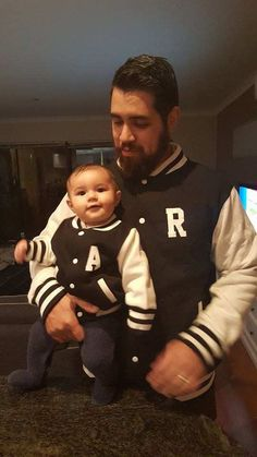 Varsity Letterman Jackets, Adults Only, Father And Son, Christmas Sweaters, New Baby Products, Sons, College, Collections, Printed