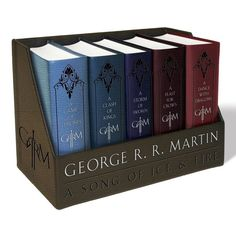 <b><b>The ultimate collector's item for fans of the epic fantasy series that inspired HBO's<i>Game of Thrones</i>—a gorgeous boxed set featuring conveniently sized, hand-holdable leather-cloth-bound editions of the first five novels!</b></b><br><...