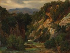 André Giroux - The Aniene River at Subiaco Greek Mythology Art, Great Paintings, Oil Paintings, Morgan Library, Over The River, Metropolitan Museum, Waterfall, Gallery, Drawings