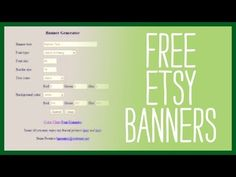 Free Etsy Banners - Top Sites That Generate a Free Etsy Banner for your Etsy Shop - YouTube