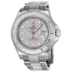 Rolex Yacht Master Stainless Steel Platinum Dial Watch 116622PLSO