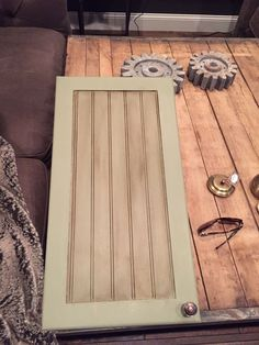 Chalk Painted Knotty Pine Cabinets