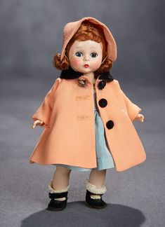 """Lot: Red-Haired Alexander-Kins """"Wendy Needs More Than One Coat"""" Ensemble, 1956 Antique Dolls, Vintage Dolls, Vintage Madame Alexander Dolls, Dolls Dolls, Hello Dolly, Doll Stuff, Revlon, Ponies, Paper Dolls"""