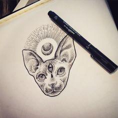 egyptian sphinx cat tattoo - Buscar con Google