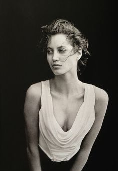 Christy by Peter Lindbergh, Vogue UK, February 1988 (Outtake).