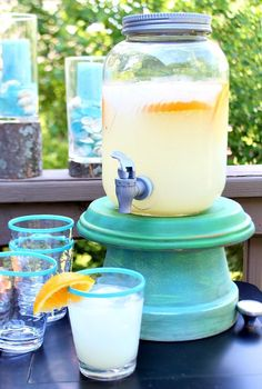 Great for a party or when you need an easy riser for drink dispensers. These clay pots can be painted any color and used any time of the year. refreshrestyle.com