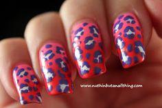 leopard print gradient