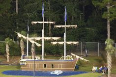 Pirate Ship!!! - In the end zone at Majors field, Beware  . . . the LOUD cannon fires after every touchdown! - Fairhope Supply Co.