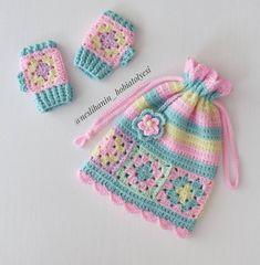 Baby Hat Patterns, Baby Knitting Patterns, Crochet Patterns, Crochet Gloves, Knitted Hats, Crochet Stitches, Knit Crochet, Crochet Flower Squares, Crochet World