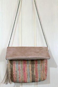 cork foldover clutch/ crossbody bag/cork by SunbeamSantorini