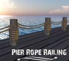 Pier Rope Dock Railing Nautical Decor (boxed) You are in the right place about nautical decor restaurant Here we offer you the most beautiful pictures about the vintage nautical decor you are looking Vintage Nautical Decor, Nautical Home, Nautical Deck Ideas, Lake Dock, Boat Dock, Deck Railings, Rope Railing, Rope Fence, Railing Ideas