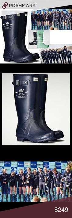 Hunter Limited Ed Oxford U. Boat Race Rubber Boots Hunter has created a collection of rain boots to celebrate the iconic Oxford boat race event, first held in 1829. Exclusively designed, the boots are inspired by those worn by the competing crews, bearing the emblem and color of Oxford University Boat Club. Looking to iconic Hunter designs, and hand assembled on a last for exceptional fit and comfort, the vulcanised rubber boots comprise part of the Hunter Field collection and are detailed…