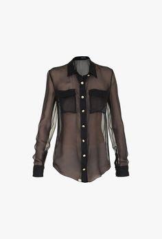 Balmain - Silk-chiffon shirt - Women's shirts