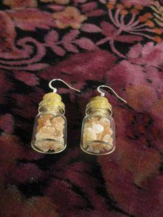 Funky Jewelry, Cute Jewelry, Wedding Jewelry, Handmade Jewelry, Bottle Jewelry, Bottle Charms, Cute Earrings, Bead Earrings, Mini Things