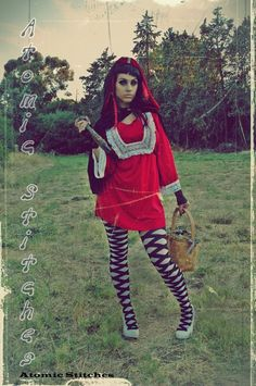 Custom Dark Red Riding Hood Costume by AtomicStitches on Etsy, $195.00