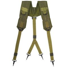 Olive Drab Surplus Tactical LC-1 Y Style Belt/Pants Suspenders - Heavy Duty Nylon