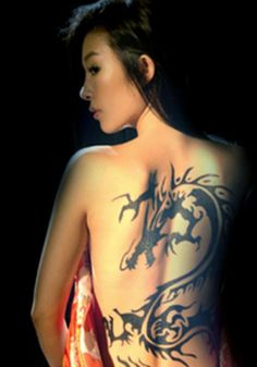 Dragon tattoo back tattoo - 70+ Awesome Tribal Tattoo Designs  <3 !