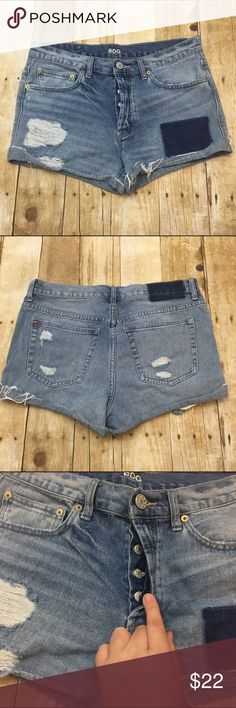 "BDG ""tom girl"" fit shorts Light wear no stains or tears, full button fly 2.5"" inseam offers always welcome in my closet, bundle 2 or more items in my closet and receive 15% off BDG Shorts Jean Shorts"