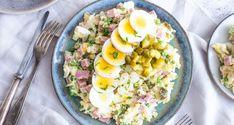 Cook Quinoa With Recipes Salad Recipes With Bacon, Salad Dressing Recipes, Veggie Recipes, Cooking Recipes, Veggie Meals, Crab Pasta Salad, Carpaccio, Healthy Summer Recipes, Dutch Recipes