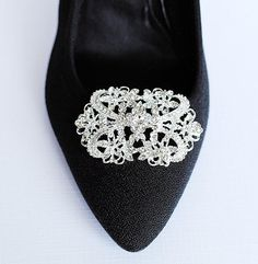 SALE Bridal Shoe Clips Crystal Rhinestone Shoe Clips Wedding Party (Set of 2) SC003LX