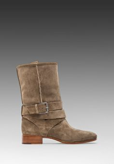 Belle By Sigerson Morrison Who Moto Bootie in Alpaca -