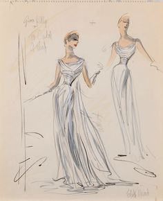 Costume design by Edith Head for Grace Kelly in To Catch a Thief (1955).