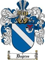 Dupree Coat of Arms / Dupree Family Crest  The French surname of DUPREE was a topographic name for someone who lived near a meadow. The name...