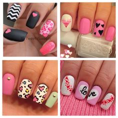 BelindaSelene: Hearts, Love, Nail Candy Nail Art!