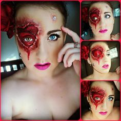 My bloody valentine makeup look