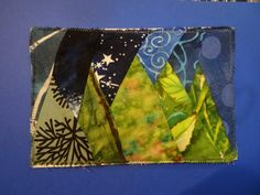 Paper pieced post card