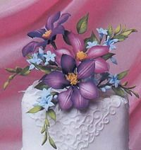 Сахарные и Живые Цветочные букеты Sugar_ &_ Fresh_ Flowers_Bouquet_ - Мастер-классы по украшению тортов Cake Decorating Tutorials (How To's) Tortas Paso a Paso