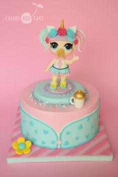 Cake Topper Tutorial, Cake Toppers, Lol Doll Cake, Funny Birthday Cakes, Surprise Cake, Bday Girl, Lol Dolls, Girl Cakes, Fondant Cakes