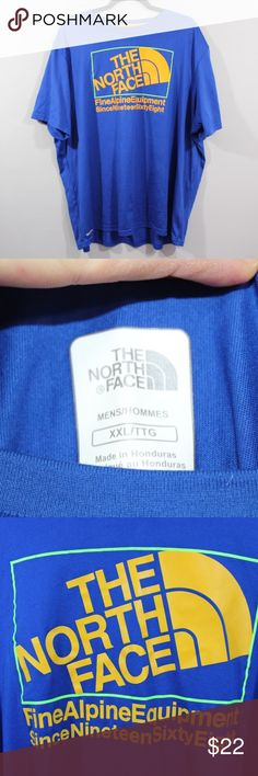 The North Face Vapor Wick Big Logo Running Shirt The North Face Vapor Wick  Running Shirt  T-Shirt  Comes from a smoke-free household  Blue  The size is Large  Measurements are:  28 inches underarm to underarm 29 inches top to bottom  Polyester  Check out my other items for sale in my store!  K6 The North Face Shirts Tees - Short Sleeve