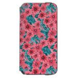 Red watercolor petunia flower pattern iPhone 6/6s wallet case