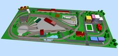 Model Train Layouts & Track Plans in N scale - Various projects, designed with SCARM layout software