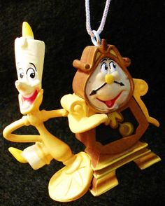 LUMIERE COGSWORTH Beauty & Beast Walt Disney Movie Belle PVC Ornament Toy Cartoon Figure Figurine Christmas Holiday Decoration Disney Christmas, Christmas Holidays, Merry Christmas, Beauty Beast, Beauty And The Beast, Christmas Story Books, Walt Disney Movies, Cogsworth, Hallmark Ornaments