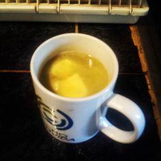 mi café con mantequilla de hoy..