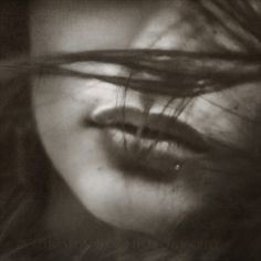 Mouth and Obscured Face © Photo by Tyson Monson Face Photo, Photo B, Dark Photography, Portrait Photography, Woman Photography, Black White Photos, Black And White, People, In This Moment
