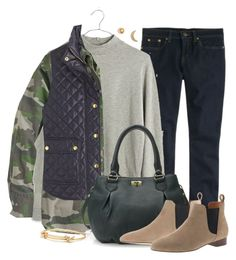 """""""Green"""" by villasba ❤ liked on Polyvore featuring J.Crew and Madewell"""