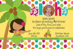 Luau Birthday Invitations Printable by NvitationsByRachelle