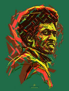 Jimmy Cliff: The Harder They Come Portrait of Jimmy Cliff for the Reggae Hall of Fame foundation. This poster is donated to raise funds to support the Alpha Boys School in Jamaica. Created by Charis Tsevis. James Chambers, frontman, Reggae, Ska, Jamaica, Carribean, Africa, music, rock, panafrican, illustration, portrait, mosaic, lines, The Aces, The Harder They Come, Island Records