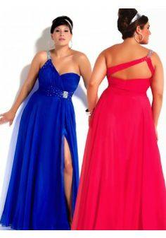 Turmec » plus size one shoulder prom dress