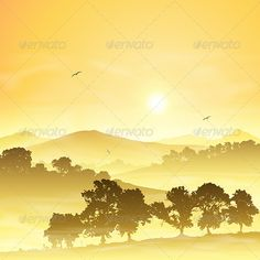Realistic Graphic DOWNLOAD (.ai, .psd) :: http://jquery-css.de/pinterest-itmid-1003634839i.html ... Misty Landscape ...  country, countryside, dawn, farmland, fog, forest, hills, illustration, landscape, lush, meadow, mist, misty, morning, mountains, rural, silhouette, sunrise, sunset, trees, vector, woods  ... Realistic Photo Graphic Print Obejct Business Web Elements Illustration Design Templates ... DOWNLOAD :: http://jquery-css.de/pinterest-itmid-1003634839i.html