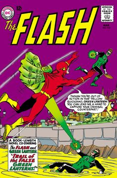 Barry Flash Allen and pal Hal Green Lantern Jordan take on three faux Green Lanterns. Flash Comic Book, Comic Book Pages, Dc Comic Books, Comic Book Covers, Comic Art, Marvel And Dc Characters, Dc Comics Superheroes, Dc Comics Art, Marvel Dc Comics