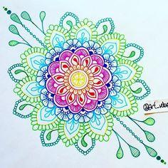 Resultado de imagen de mandalas zentangle art