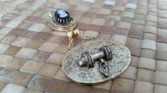 Circa 1860's Cameo amd Taille Depargne Drop Pendant in 12k gold