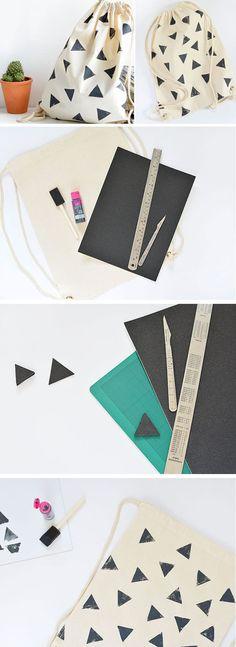 Como fazer Pintura Geométrica em Tecido