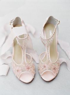 - Paloma Blush - 'Eternal' bridal collection - Romantic mesh heel with blush floral beading - Hand beaded and embroidered - Swiss dot beaded effect up the strap - T-strap model for secure fitting - Si
