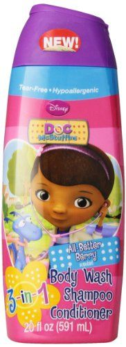 #skincare Make bath time fun with this Doc #McStuffins 3 in 1 #Body Wash. Offered here in an All Better Berry fragrance that is sure to make your tike look forwar...
